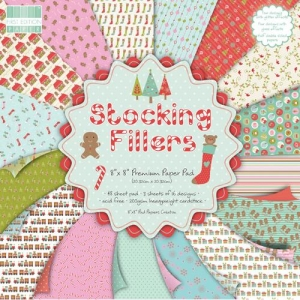 Набор бумаги First Edition Stocking Fillers, 20х20 см, 16 листов