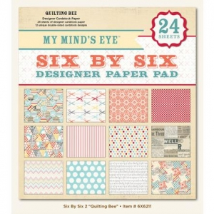 Набор бумаги Quilting Bee, 15х15 см, My Mind's Eye, 12 листов
