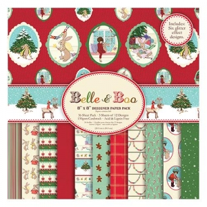 Набор бумаги Belle and Boo Christmas, 20*20 см, 12 листов