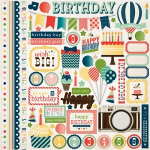 Наклейки It's a Celebration Sticker Sheet от Echo Park, 30х30 см, 1шт