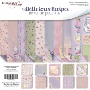 Набор бумаги ''Delicious Recipes'' от Scrapmir, 20*20 см, 10 листов